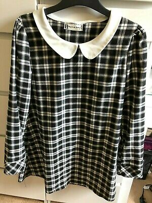 Womens Heart & Bows White And Black Short Dress In UK Size 14 • 8.99£