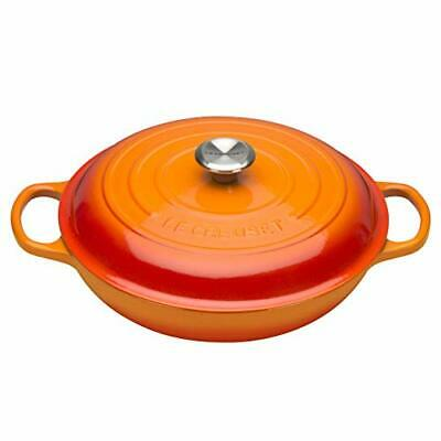 Le Creuset Signature Enamelled Cast Iron Shallow Casserole Dish With Lid, 26 Cm, • 200.27£