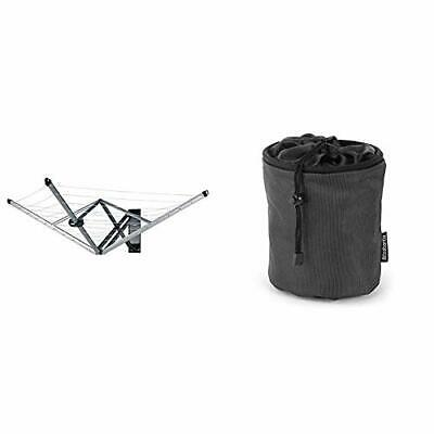Brabantia WallFix Retractable Washing Line With Fabric Cover, 24 M - Silver & • 123.99£