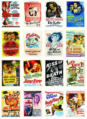 1940's Movie Posters Film Print Art Decor Gift Ideas Home Decor  • 3.89£