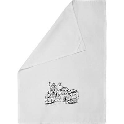 'Motorcycle' Cotton Tea Towel / Dish Cloth (TW00009198) • 7.99£