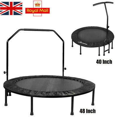 40/48 Inches Folding Rebounder Mini Fitness Cardio Trampoline For Adults Kids • 63.59£