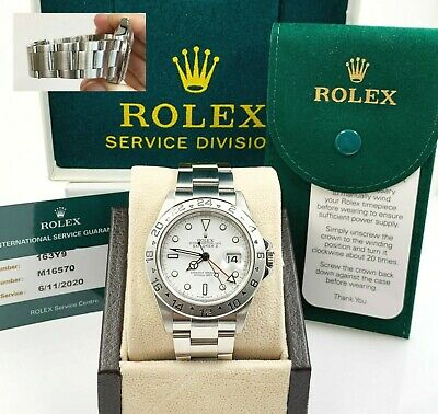$ CDN14467.22 • Buy Rolex Explorer II 16570 White Dial Stainless Box Service Paper 2020 Very Rare