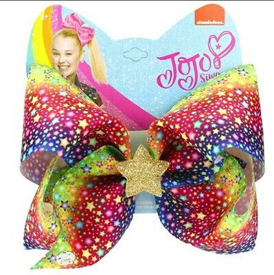 AU15.95 • Buy LATEST! Jojo Siwa Bow Large 8  Bow✨🎀  Birthday Star Bow🎉