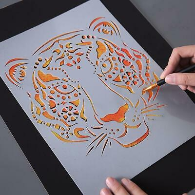 Scratch Painting Stencils Animal Drawing Template DIY Toys Lace Ruler Kids • 1.98£