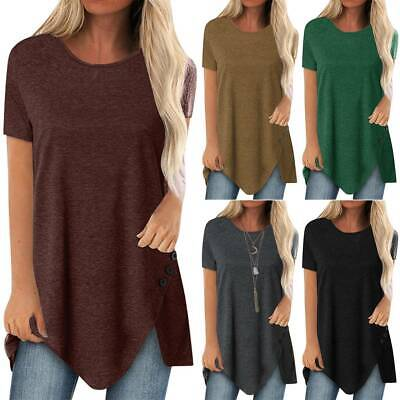 AU23.84 • Buy Womens T Shirts Short Sleeve Blouse Summer Long Tops Loose Casual Plus Size 8-22