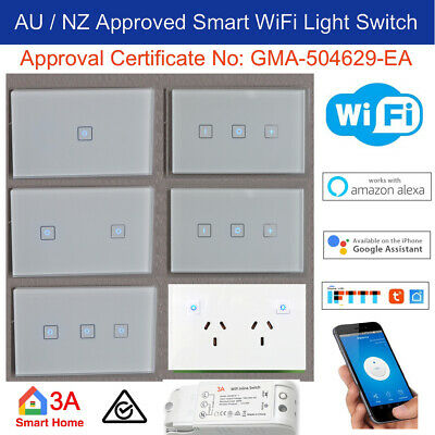 AU34.95 • Buy WiFi Smart Light Switch, Dimmer, GPO For Normal Switch Home Automation Voice Con