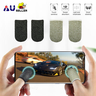 AU4.99 • Buy 2x/4x Mobile Finger Sleeve Touch Screen Game Controller Sweatproof Gloves