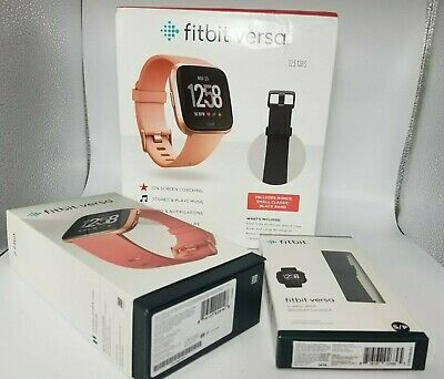 $ CDN163.51 • Buy Fitbit Versa Pack, Smartwatch Rose Gold Small & Large + Extra Small Black Band