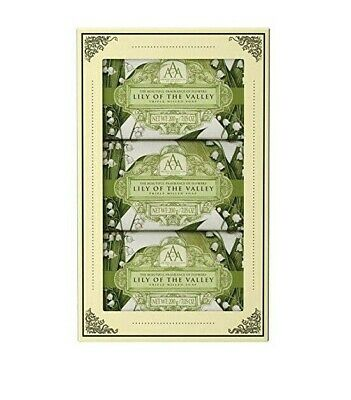 £12.99 • Buy AAA Luxury Floral Lily Of The Valley Hand Soap Gift Set 3 X 200g Soap Bar
