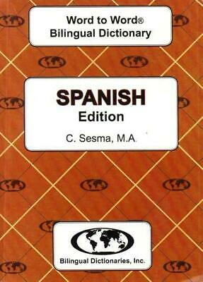 Exam Suitable : English-Spanish & Spanish-English Word-to-Word Dictionary • 16.29£