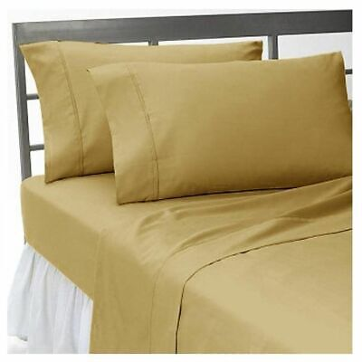 Bedding Collection Egyptian Cotton Color Beige Solid UK Sizes 1000 Thread Count • 49.72£