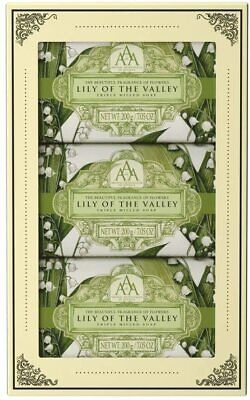 Aromas Artesanales De Antigua Lily Of The Valley Hand Soap Gift Set 3x200g • 11.99£
