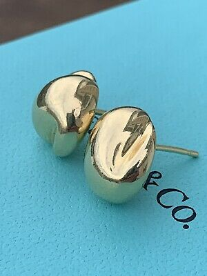 £982.03 • Buy Tiffany & Co 18K Yellow Gold Round Dome Nugget Wave Stud Earrings 11.3 Grams