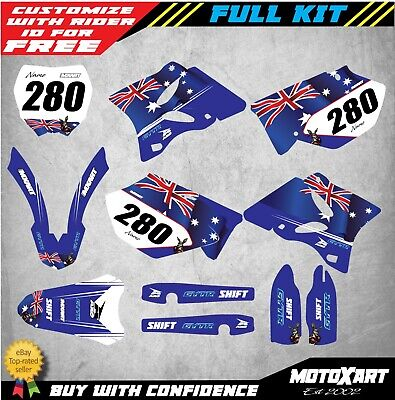 AU179.90 • Buy Custom Graphics Decal Kit For Yamaha YZ 250 2008 2009 2010 AUSSIE STYLE Stickers
