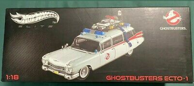 1:18 Hot Wheels Elite  Ghostbusters Ecto-1 Cadillac Hearse *used* Rare!!!! • 243.79£