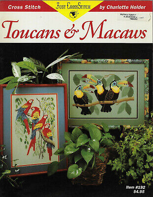 £4.81 • Buy Toucans & Macaws Cross Stitch Chart Charlotte Holder # 192 Tropical Bird