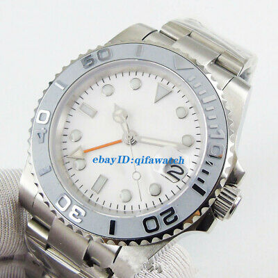 £63.67 • Buy 40mm Sapphire Glass White Luminous Dial DG3804 GMT Automatic Mens Watch Gift