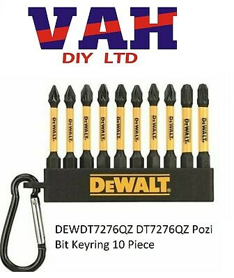 DeWalt DT7276-QZ 50mm PZ1 PZ2 PZ3 High Imact Screwdriver & Bit Keyring • 3.99£