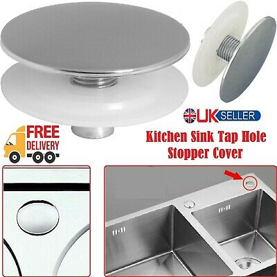 Stainless Steel Kitchen Sink Tap Hole Blanking Plug Stopper Basin Cover Chrome • 4.59£