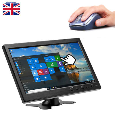 10.1  HD CCTV LCD Monitor PC Screen AV/RCA/VGA/HDMI/BNC Video Display W/ Speaker • 51.99£