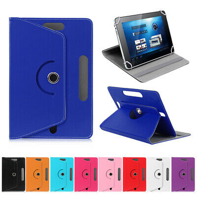 £3.99 • Buy 360° Rotate Universal Stand Leather Flip Case Cover Fits Lenovo Tab Tablet 7 10