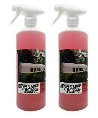 £11.99 • Buy Heavy Duty Marquee Tent Inflatable PVC And Canvas Cleaner Relancer 2 X 1L Bottle