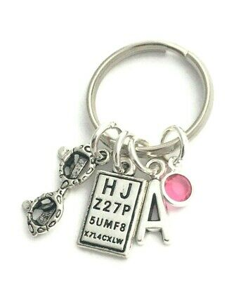 Personalised Optometrist Keychain, Eye Test Chart Keyring, Optician Graduation • 6.99£