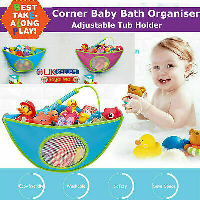 Kids Baby Bath Toy Tidy Organiser Mesh Net Storage Bag Peli Play Pouch Holder UK • 5.95£
