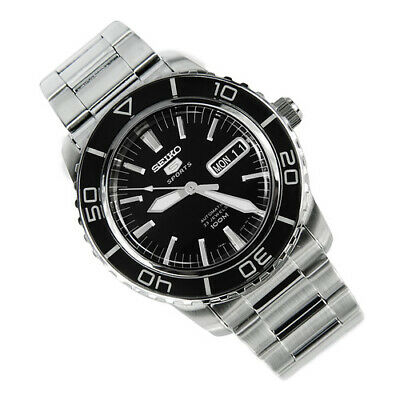 $ CDN208.53 • Buy Seiko 5 SNZH55 Automatic Black Dial Stainless Steel Mens Watch