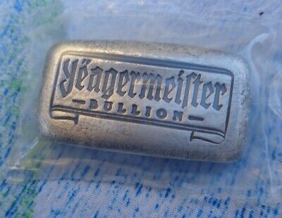 1 Oz. Yeagermeister Bullion Antiqued Bread Bar Ingot .999 Fine Silver Sealed! • 35.76£
