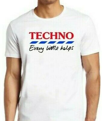£5.99 • Buy Techno T-Shirt Every Little Helps Retro Funny Parody Cool Gift Tee Uk White
