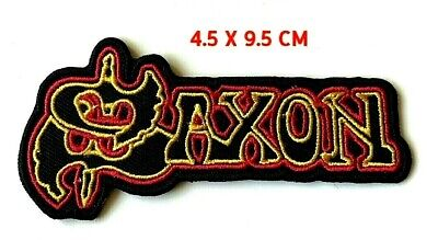 £1.99 • Buy Saxon  Heavy Metal Rock Punk Music Embroidered Iron On Sew On Patch