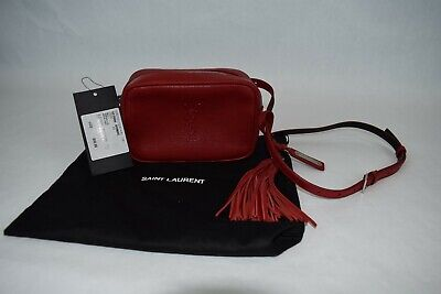 AU927.89 • Buy NEW! $850 Authentic YSL Saint Laurent Lou Smooth Leather Belt Bag Red Tassels