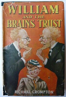 Richmal Crompton , William And The Brains Trust , First Edition , 1945 , DJ / DW • 99£