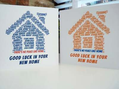 Personalised New Home Card • 2.95£