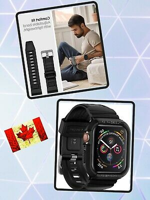 $ CDN31.95 • Buy Rugged Armor Case For Apple Watch 44mm Series 5 Series 4 Black Matte Finish