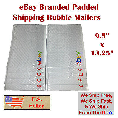 """$ CDN16.77 • Buy 5 / 10 EBay Branded Padded Shipping Bubble Mailers Poly Envelopes 9.5"""" X 13.25"""""""