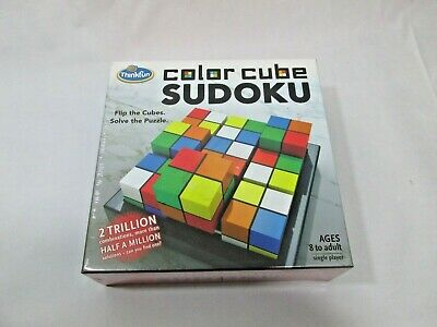 Color Cube Sudoku Puzzle Game Flip The Cubes Solve The Puzzle SEALED-  • 10.96£