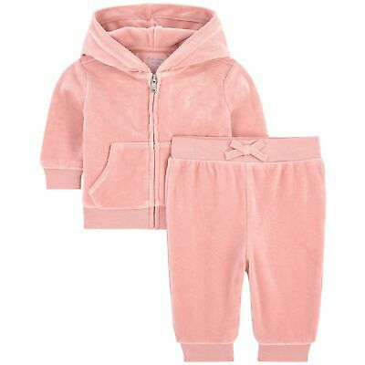 £49.99 • Buy RALPH LAUREN Baby Girl PINK Velour Hooded TRACKSUIT 0/3M 2pc SET