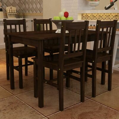 AU317.95 • Buy 4 Seater Table And Chairs Set Solid Pine Wood 5 Pcs Kitchen Dining Furniture
