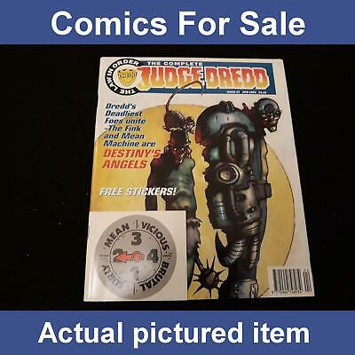 2000AD The Complete Judge Dredd 27 With Dredd Badge & Mean Stickers(LOT#7821) • 4.99£