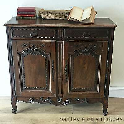 AU1585 • Buy Antique French Rare Buffet Sideboard Oak Louis Style Heavily Carved - RF102