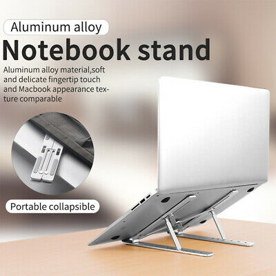 AU27.53 • Buy Portable Aluminium Foldable Laptop Stand Desk Table Tray Adjustable Bedside