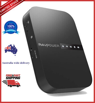 AU82.15 • Buy RAVPower FileHub Wireless Travel Router Ac 750 Portable Wireless SD Card Reader