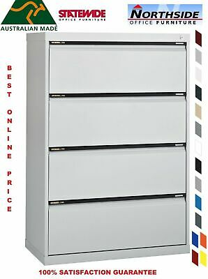 AU765 • Buy 4 Drawer Lateral Filing Cabinet Statewide Australian Made - LIFETIME WARRANTY