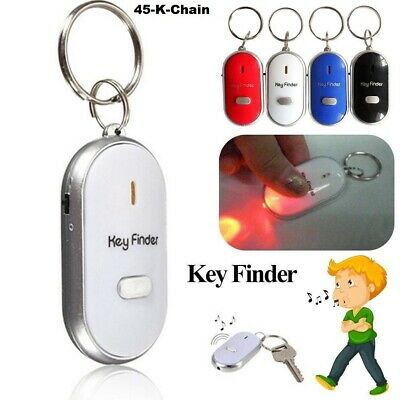 Whistle Lost Key Finder Flashing Beeping Locator Remote Chain LED Sonic Torch. • 3.19£