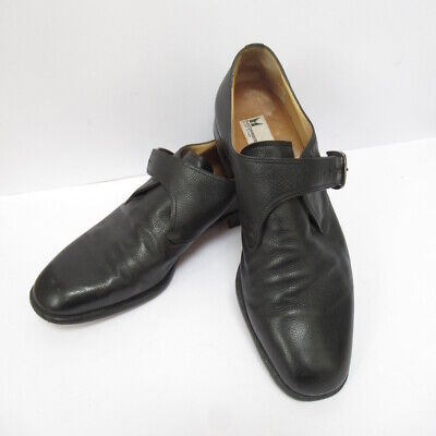Moreschi Mens Black Leather Dress Monk Shoes W/ Buckles - Size 9 Made In Italy • 40£