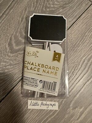 £1.50 • Buy Brand New, We Do! 4 Chalkboard Stand Wedding Place Name