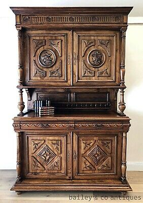 AU1385 • Buy Antique French Rare Carved Sideboard Henri II Style Magnificent - TA077